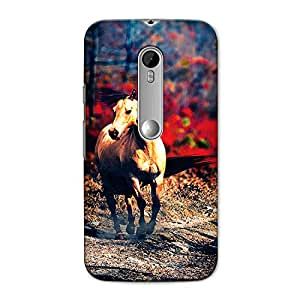 CrazyInk Premium 3D Back Cover for MOTOROLA G3/ G3 TURBO - HORSE