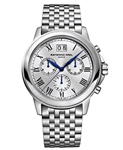 Raymond Weil Tradition Chronograph Silver Dial Stainless Steel Mens Watch 4476-ST-00650