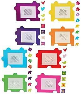 xl wandtattoo sticker fotorahmen als puzzle herzen. Black Bedroom Furniture Sets. Home Design Ideas