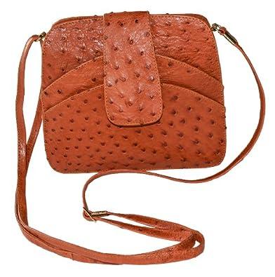 """Original Monte Lovis - Damenhandtasche """"BOLSO"""" in Rot - ! Staußenleder ! - Edles und sehr elegantes Design - ! Maßanfertigung ! - Echtes Unikat - Material: echtes Straußenleder"""