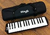 Stagg MELOSTA32BK 32 Note Melodica with Case Black