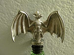 Bacardi Rum Pewter Bat Bottle Spout Pourer by Bacardi Distillery