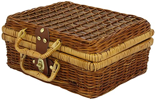 Vilac Baby Toy Tin Doll Dinner Party in Wicker Basket