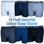 Mens 12 Pack Assorted Colours Soft Ri...