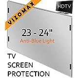 23 - 24 inch Anti-blue Light Vizomax Monitor/TV Screen Protector for LCD, LED, Computer & Plasma HDTV (Color: Blue, Tamaño: 23 - 24 inch)