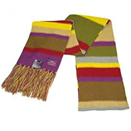 Doctor Who Scarf - Buy Official BBC 4th Doctor Replica Scarf - Dr Who Tom Baker Scarf on Sale - Full Size