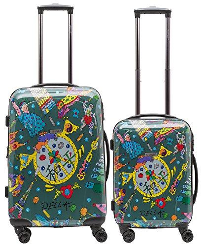 Packenger One World Set di 2 valigie 102/1-111P-05, 70 cm, 104 L, Verde