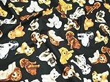 Premier Cotton Prints Quilting Fabric - Realistic Dogs on Black - Fat Quarter (20