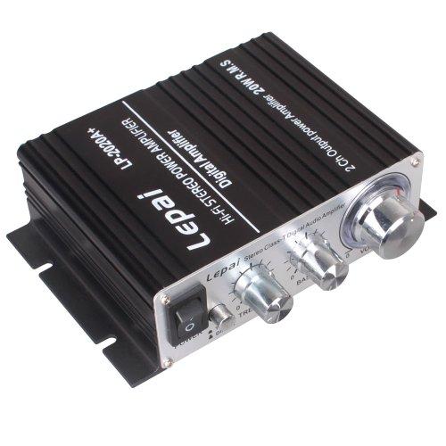 Lepai Lp-2020A+ Tripath Class-T Mini Audio Amplifier With Power Supply Black