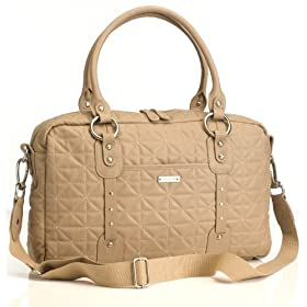 Elizabeth Quilted Leather in Fawn