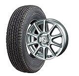 スタッドレスタイヤ145R12 6PR・ホイール1本セット 12インチ BRIDGESTONE(ブリヂストン) W300 145R12 6PR + INTER MILANO ゼファー BT10 (BEST) 1240 4/100 +42