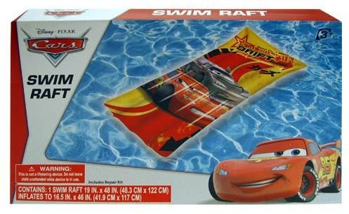 "Inflatable Raft - Disney - Cars (19"" x 48) (Swimming Toys)"