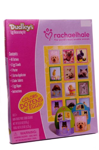 Dudley's Rachael Hale Easter Egg Decorating Kit with Animal Tattoos - 1