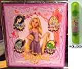 Disney Parks Rapunzel Booster Pack Trading pins - (4 Pins Included) - Disney Parks Exclusive & Limited Availability + Double Sided Princess Stamp Inlcuded