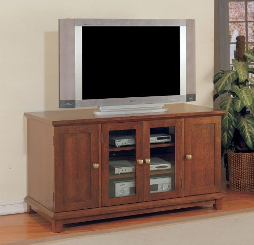 Cheap 52″W Plasma/ LCD TV Stand Console Table in Antique Cherry Finish (AZ00-47170×20728)