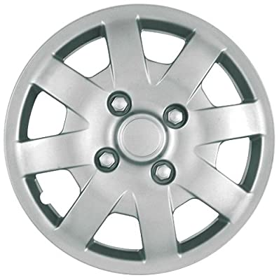 CCI IWC408-14S 14 Inch Clip On Silver Finish Hubcaps - Pack of 4