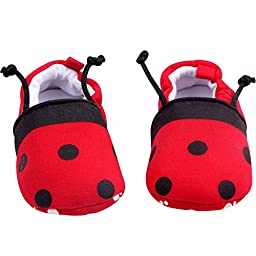 Buttercup Baby Red Ladybird Soft Sole Infant Shoes 0-6 Months