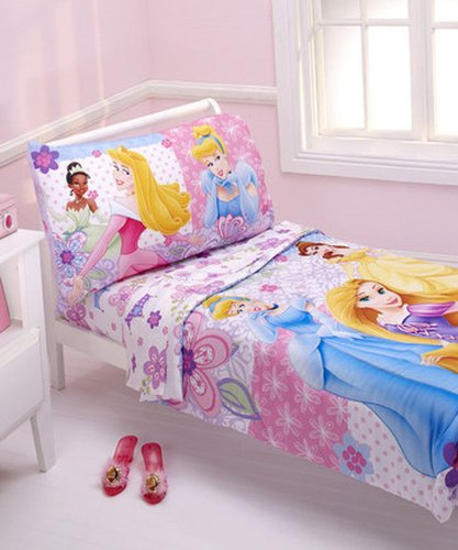 Disney 4 Piece Toddler Set, Princesses Wishes and Dreams - 1