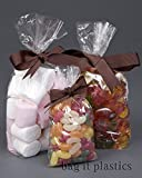 """50 Clear Cellophane Sweet / Party / Gift Bags 3"""" x 1.5"""" x 7.5"""""""