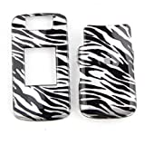 Blackberry Pearl Flip 8220 Transparent Black White Zebra Tp Case Accessory Snap-on Protector