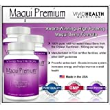 Maqui Premium (3 Bottles) - High Potency, Super Absorbable Maqui Berry Supplement. The All-Natural Diet, Cleanse & Detox, Antioxidant Superfood product. BETTER than Acai! (500mg - 30 Capsules each) ~ Maqui Premium