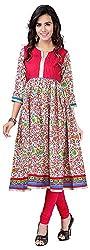 INDIAN FASHION LADY Women's Cotton Kurtas (Ifl-110 , pink)