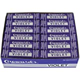 C Howard`s Violet Mint Squares Candy Packs: 24ct Box