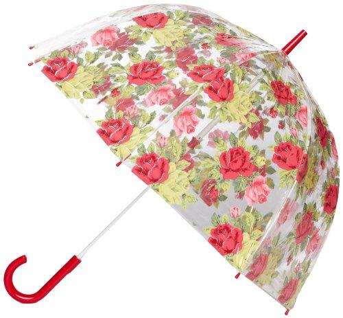 Cath Kidston by Fulton CK Birdcage 2 Royal Rose White Women's Umbrella