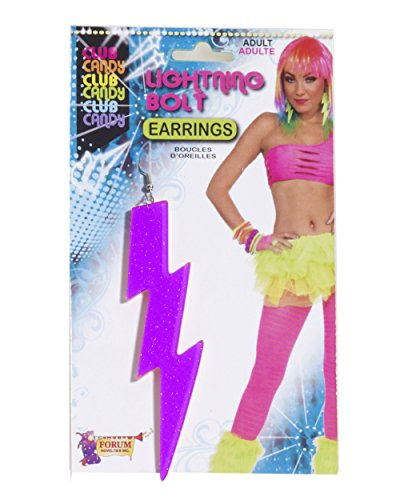 Neon Purple Lightning Bolt Earrings