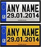 Coolrideplates® Little Tikes Cozy Coupe Kids 90X50mm Personalised Rear Date of Birth Number Plate Self-Adhesive Stickers *SIMPLY ADD A GIFT MESSAGE WITH THE NAME COLOUR AND DOB REQUIRED WHEN ORDERING*