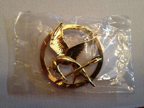 The Hunger Games Brooch Gold Mockingjay Pin Scholastic Movie Prop Replica Model