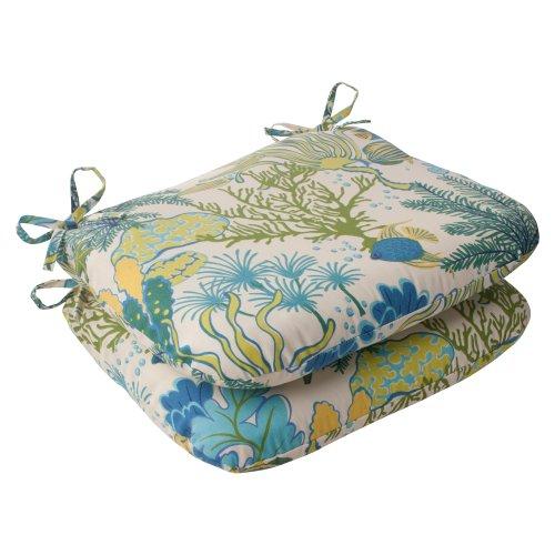 Pillow Perfect Indoor//Outdoor Splish Splash Corded Rectangular Throw Pillow Blue Set of 2