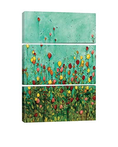 Jennifer Wagner Balloon Garden I Gallery Wrapped Triptych Canvas Print