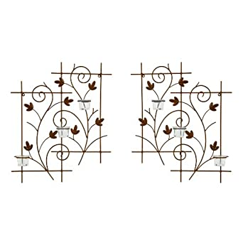 Wrought Iron Votive CandleHolder Wall Candle Sconce S2