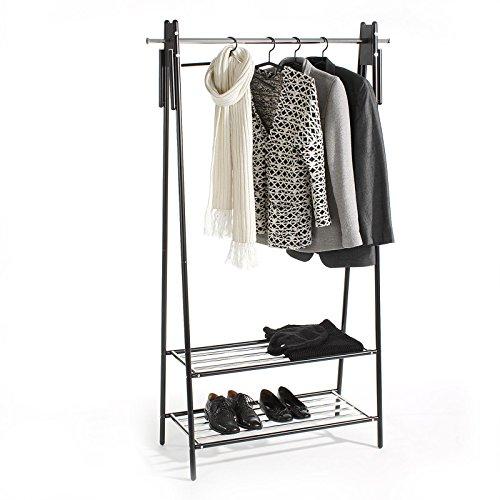 Garderobenstnder-Kleiderstange-Garderobe-Kleiderstnder-Edvin-Metall-schwarz-lackiert