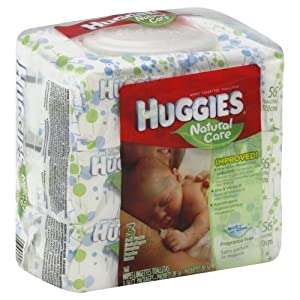 Huggies Natural Care Fragrance Free Soft Pack Wipes - 1 pack of 3