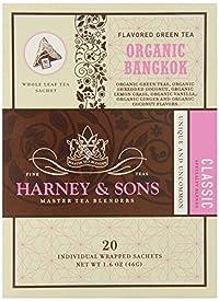 Harney & Sons Fine Teas Organic Bangkok - 20 Wrapped Sachets, 1.6 Ounce