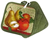 5 Piece Old Fashion Apple Themed Everyday Kitchen Towel Set with Oven Mitt & Pot Holders