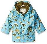 Hatley Boys Rain Coat -Wild Dinos - impermeable Niños, Multicolor (Blue), 8 años (Talla del fabricante: 8 Years)