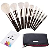 Party Queen Luxury 10pcs Wool Makeup Brush Set With Case Top Craftwork Level Up Your Brushes Collection