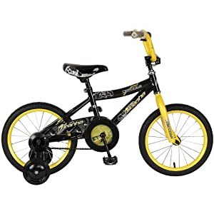 Piranha Boy's Decoder Bike (Black/Yellow, 16-Inch)