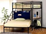 Twin / Full Bunk Bed with Study Desk Acs002030
