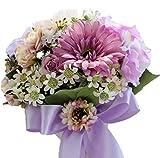 美しい ウエディング ブーケ 絢爛 豪華版 ( フラワーシャワー 500枚 付き) ブライダル ブーケ 花束 美しい花嫁 ( パープルエンジェル )