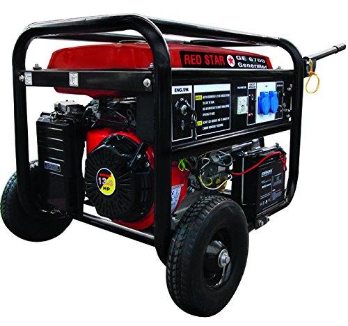 Mosa 5311030 Generatori Red-Star GE-6700, Motore Benzina, 4 Tempi, 389 CC, 5.0 kW