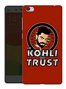 "Humor Gang In Kohli We Trust - Red Printed Designer Mobile Back Cover For ""Xiaomi Redmi Mi5"" (3D, Matte, Premium Quality Snap On Case)"
