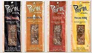 Primal Strips Meatless Vegan Jerky- Signature Sampler; 3 Each