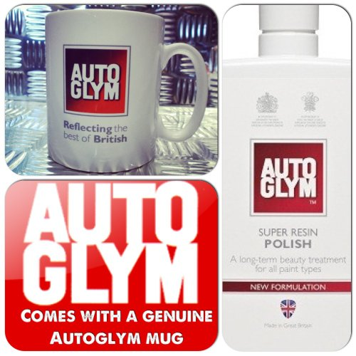 Autoglym Ultimate Car Valeting Treatment Super Resin Polish 325ml + Genuine Mug Cup (NEW FORMULA)