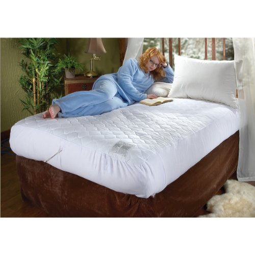 Biddeford 5201-505222-100 54 By 75-Inch Quilted Skirt Heated Mattress Pad, Full, Natural