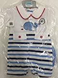 Brand New Baby Boys Cotton Striped Romper Suit 03MTHS