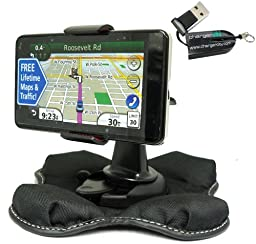 ChargerCity NonSlip Beanbag Friction Mount for Garmin Nuvi TomTOm Start XL XXL ONE VIA Magellan Roadmate Maestro 3.5\